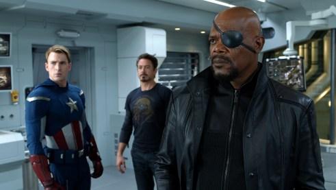 Captain America Iron Man Nick Fury The Avengers