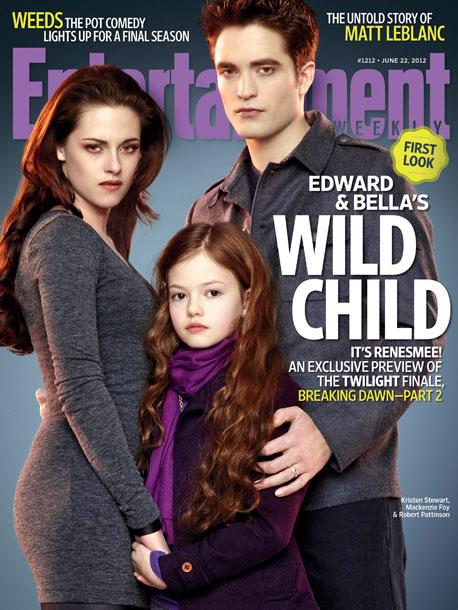 Kristen Stewart Robert Pattinson Mackenzie Foy The Twilight Saga Breaking Dawn Part 2 Entertainment Weekly Cover