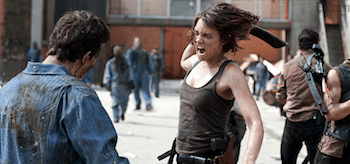 Lauren Cohan The Walking Dead Prison