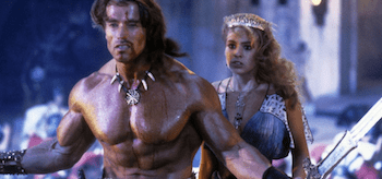 Arnold Schwarzenegger Olivia d'Abo Conan the Destroyer