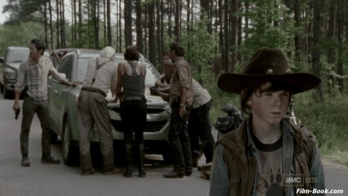 Chandler Riggs Steven Yeun The Walking Dead Seed