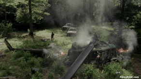 Helicopter Crash The Walking Dead Walk with Me
