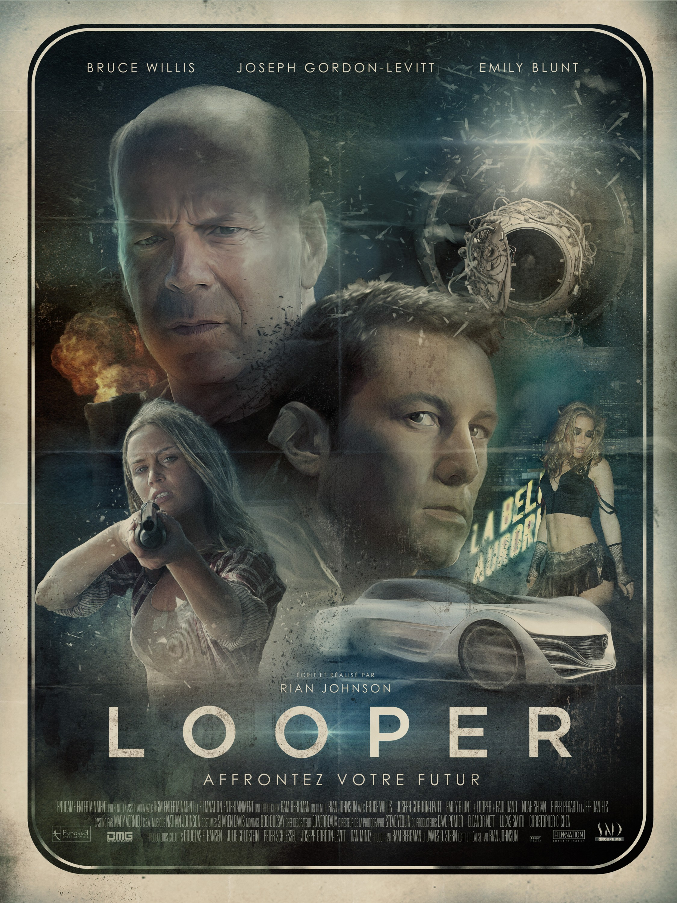 Looper 2012 Rian Johnson Commentary Track Timeline Infographic Filmbook