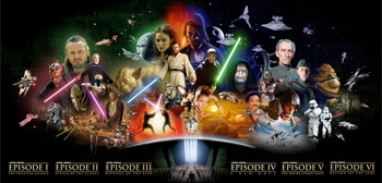 Star Wars Saga Movie Banner