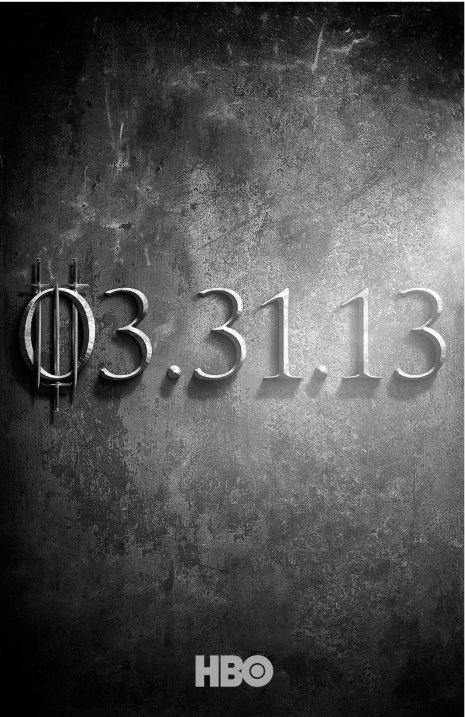 Game of Thrones Season 3 Teaser TV Show Poster