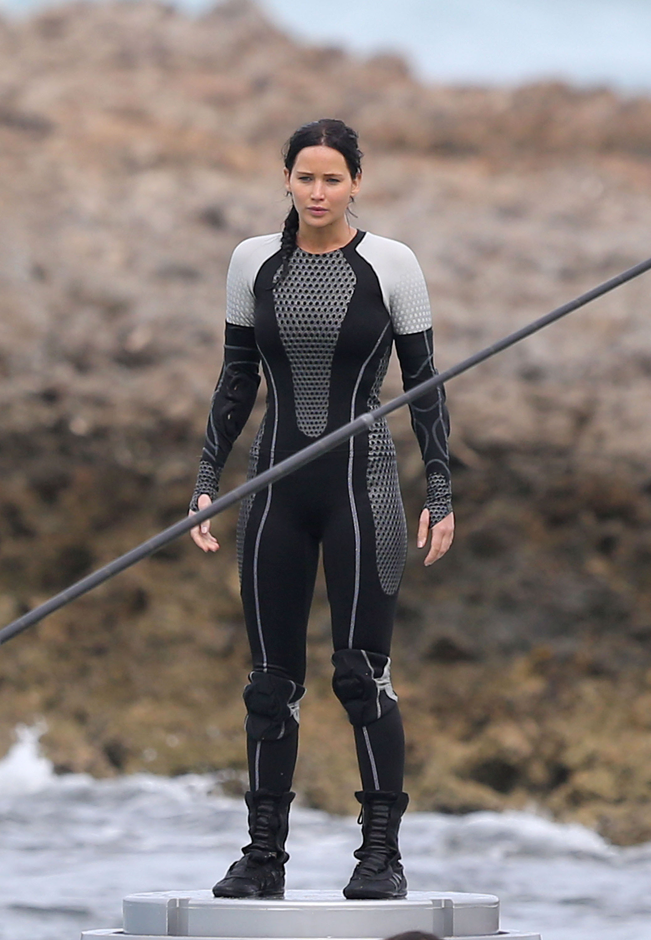 CATCHING FIRE (2013): Jennifer Lawrence, Lynn Cohen Arena ...