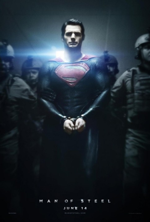 Man of Steel handcuffs movie poster