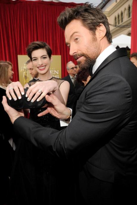 Anne Hathaway Hugh Jackman Screen Actors Guild Awards 2013