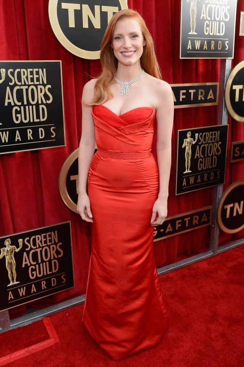 Jessica Chastain Screen Actors Guild Awards 2013
