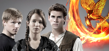 Jennifer Lawrence Josh Hutcherson Liam Hemsworth The Hunger Games