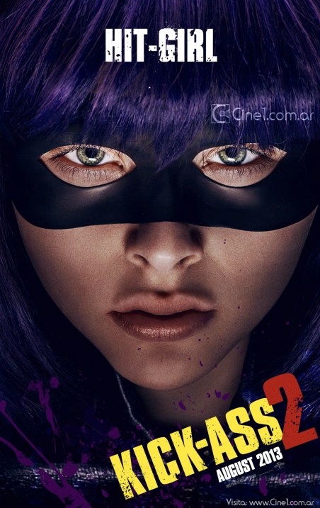 Chloe Mortez Hit-Girl Kick-Ass 2 movie poster