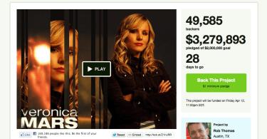 Kristen Bell Veronica Mars Kickstarter