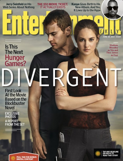 Shailene Woodley Theo James Divergent Entertainment Weekly Cover 2013