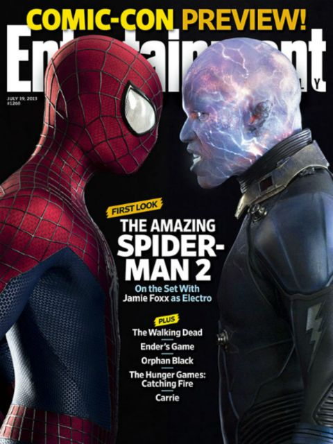 Jamie Foxx Electro The Amazing Spider-Man 2 Entertainment Weekly Cover