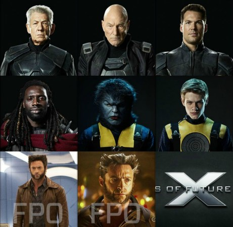 Patrick Stewart Ian McKellen Daniel Cudmore Omar Sy Lucas Till Hugh Jackman X-Men Days Of Future Past Character Collage
