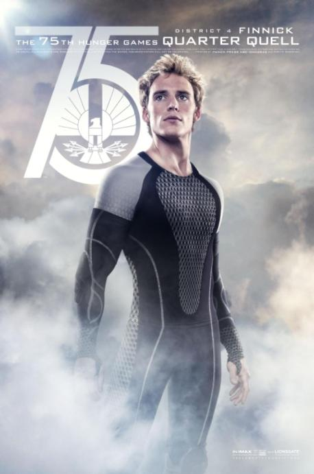 Sam Claflin 75th Hunger Games Quarter Quell District 2 Johanna movie poster
