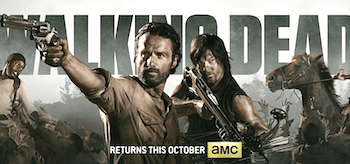 The Walking Dead Season 4 TV show banner