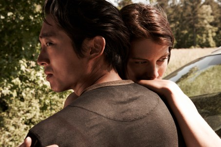 Lauren Cohan Steven Yeun The Walking Dead Season 4