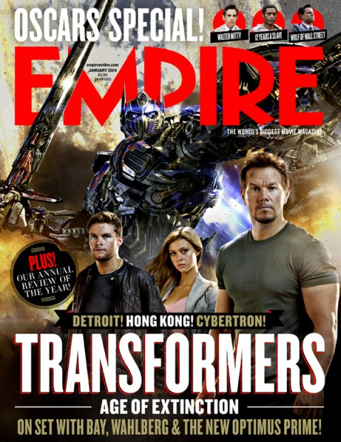 Transformers Age of Extinction Empire Magazine January 2014 cover