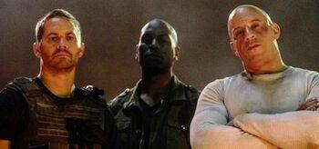 Paul Walker Tyrese Gibson Vin Diesel Fast and Furious 7