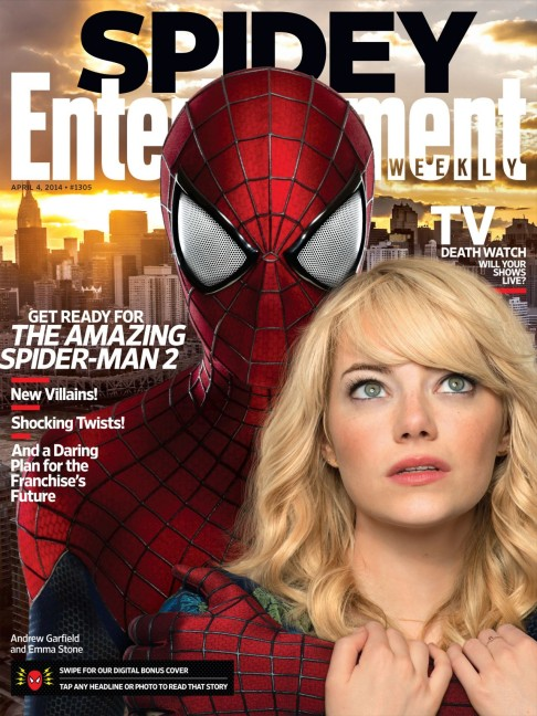 Emma Stone Entertainment Weekly April 4 2014 cover The Amazing Spider-Man 2