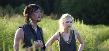 Norman Reedus Emily Kinney The Walking Dead Still