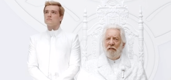 Josh Hutcherson Donald Sutherland The Hunger Games Mockingjay