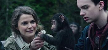Keri Russell Dawn of the Planet of the Apes