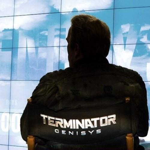 Arnold Schwarzenegger Terminator Genisys Logo