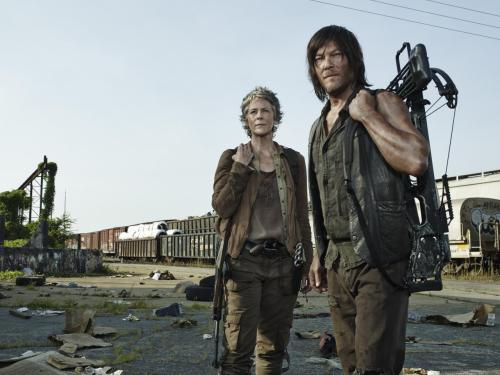 Melissa McBride Norman Reedus The Walking Dead Season 5