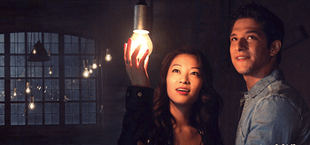 Tyler Posey and Arden Cho Teen Wolf A Promise to the Dead