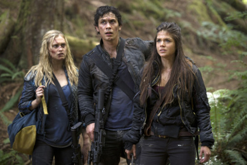 Eliza Taylor Bob Morely Marie Avgeropoulos The 100 Human Trials