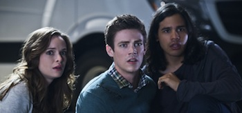 Danielle Panabaker Grant Gustin Carlos Valdes The Flash Power Outage