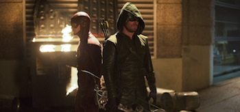 Grant Gustin Stephen Amell The Flash Flash Vs Arrow