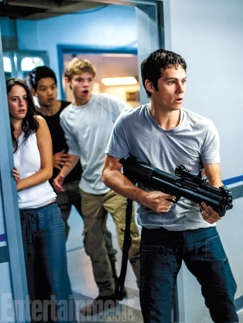 Kaya Scodelario Thomas Brodie-Sangster Ki Hong Lee Dylan O'Brien Maze Runner The Scorch Trials