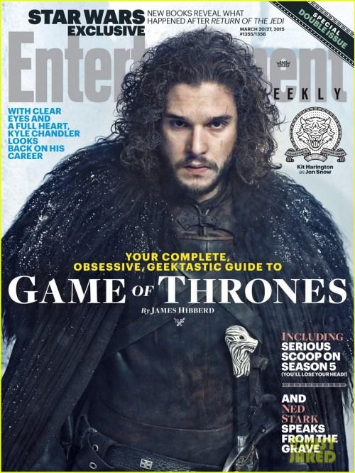 Kit Harrington Game of Thrones Season 5 Entertainment Weekly Cover