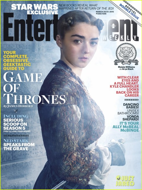 Maisie Williams Game of Thrones Season 5 Entertainment Weekly Cover