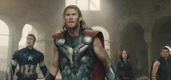 Chris Hemsworth Chris Evans Jeremy Renner Scarlett Johansson Avengers Age of Ultron