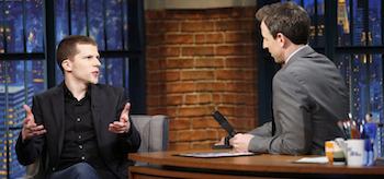 Jesse Eisenberg Late Night with Seth Meyers