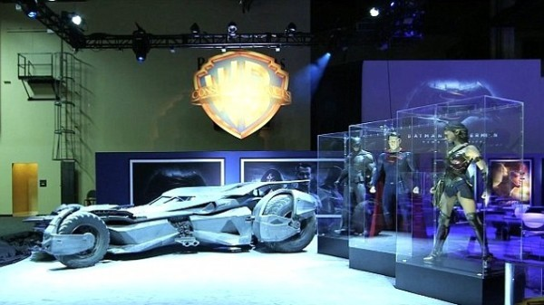 Batman v Superman: Dawn of Justice Licensing Expo display
