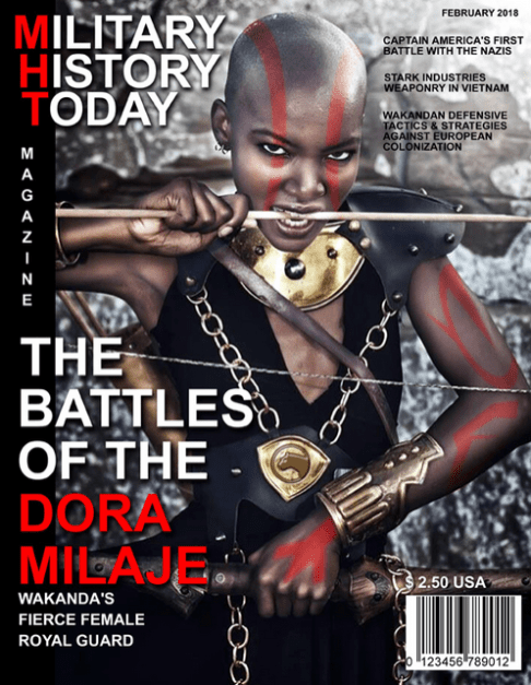 Dora Milaje Military History Today Magazine cover by Darian Robbins
