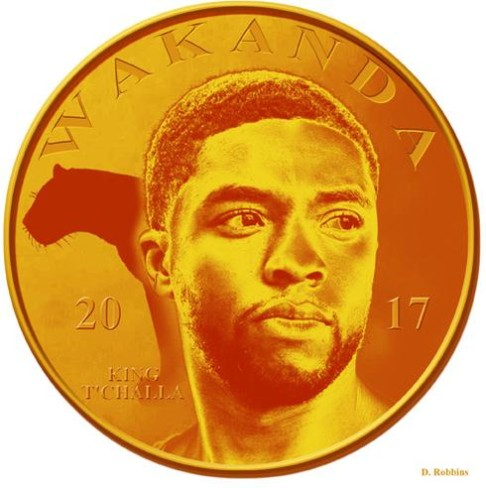 Wakandan coin currency by Darian Robbins