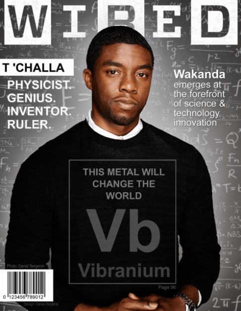 T'Challa Wired Magazine cover by Darian Robbins