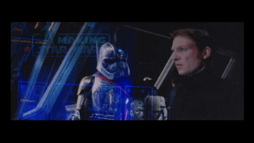 Gwendoline Christie Domhnall Gleeson Star Wars The Force Awakens