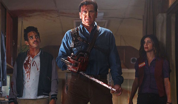 Bruce Campbell Ray Santiago Dana Delorenzo Ash vs Evil Dead