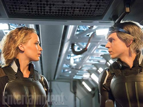 Jennifer Lawrence Evan Peters X-Men: Apocalypse