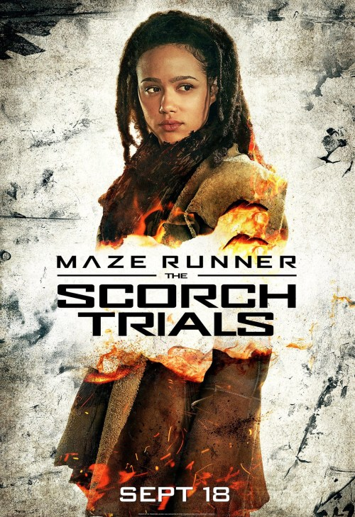 Nathalie Emmanuel Maze Runner The Scorch Trials poster