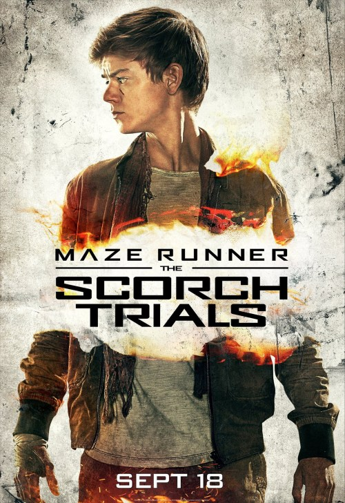 Thomas Brodie-Sangster Maze Runner The Scorch Trials poster
