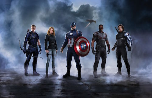 Civil War Captain America Team Concept Art