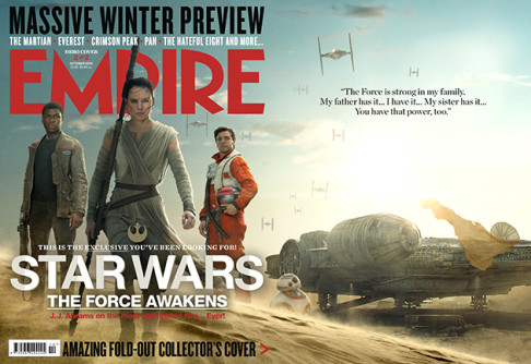 Daisy Ridley John Boyega Oscar Isaac Empire Star Wars: The Force Awakens